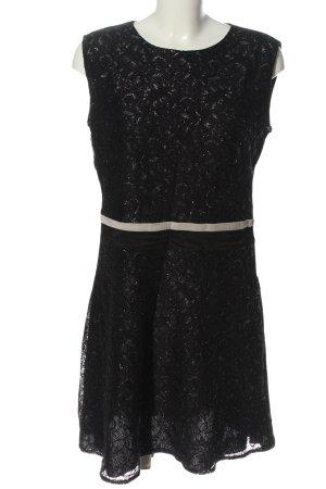 Promod Spitzenkleid schwarz-weiß Casual-Look