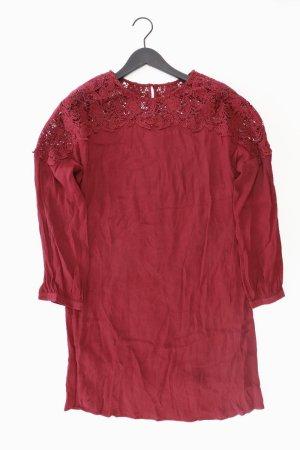 Promod Spitzenkleid Größe 38 neu mit Etikett Langarm rot aus Viskose