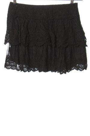 Promod Kanten rok zwart casual uitstraling