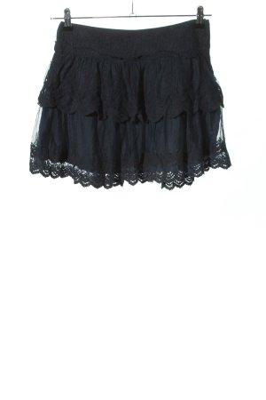Promod Falda de encaje negro look casual
