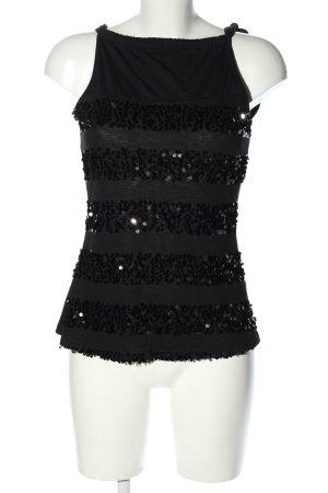 Promod Blusentop schwarz Streifenmuster Elegant