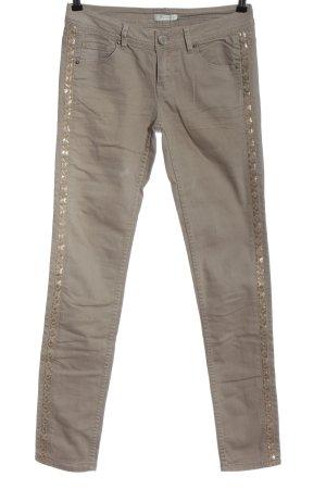 Promod Slim Jeans hellgrau-goldfarben Casual-Look