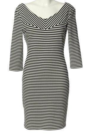Promod Robe stretch blanc-noir imprimé allover style décontracté