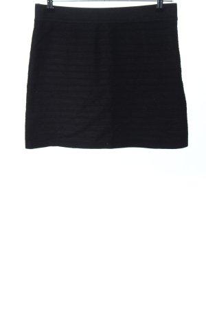 Promod Stretch rok zwart gestreept patroon casual uitstraling
