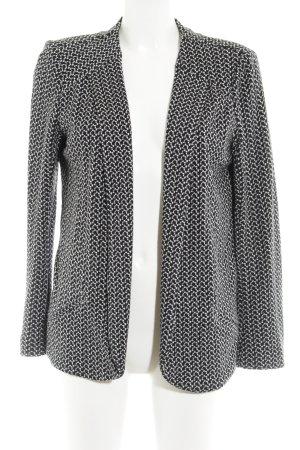 Promod Strickblazer schwarz-weiß abstraktes Muster Casual-Look