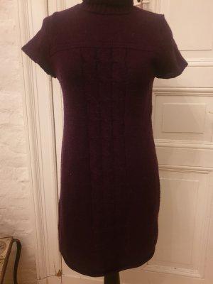 Promod Robe en laine brun pourpre