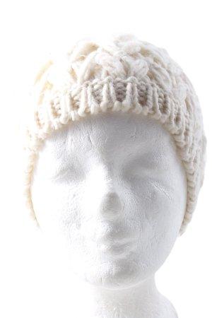 Promod Cappello a maglia crema stile casual