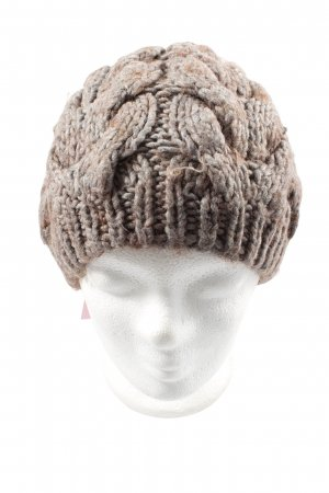 Promod Knitted Hat light grey-brown cable stitch casual look