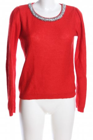 Promod Strickpullover rot Casual-Look