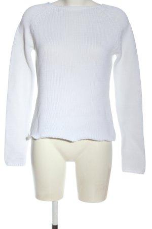 Promod Pull tricoté blanc style décontracté