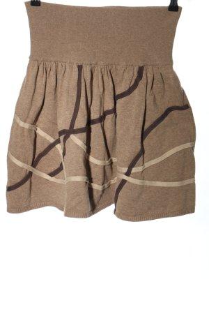 Promod Spódnica z dzianiny brązowy Melanżowy W stylu casual