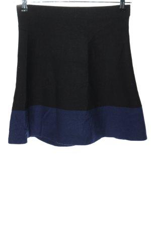 Promod Falda de punto negro-azul look casual