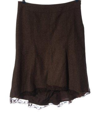 Promod Gebreide rok bruin gestippeld casual uitstraling