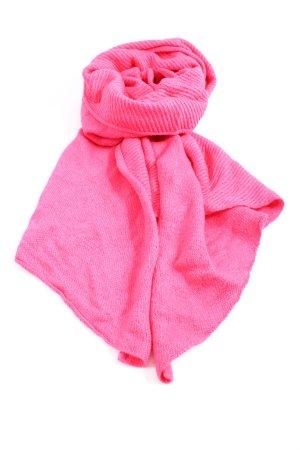 Promod Écharpe en tricot rose style décontracté
