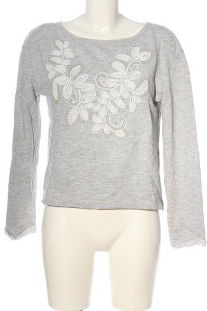 Promod Camisa tejida gris claro-blanco puro moteado look casual