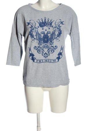 Promod Strickshirt hellgrau-blau meliert Casual-Look