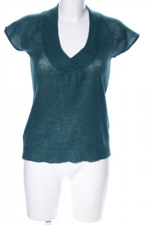 Promod Top de punto azul look casual