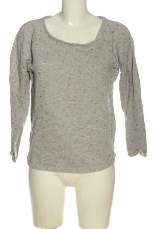 Promod Sweatshirt hellgrau Allover-Druck Casual-Look