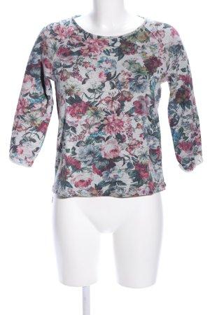 Promod Sweatshirt Blumenmuster Casual-Look