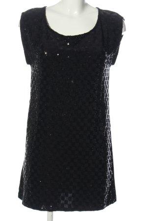 Promod Camiseta negro estampado con diseño abstracto elegante
