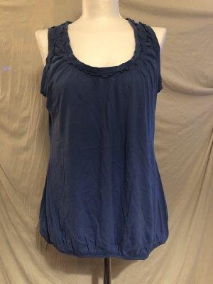 Promod Top XL 42 Blau mit Rüschen