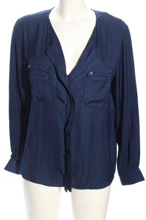 Promod Transparenz-Bluse blau Punktemuster Business-Look