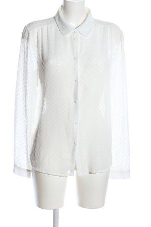 Promod Transparenz-Bluse weiß Casual-Look