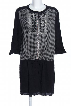 Promod Tuniekblouse zwart-wit abstract patroon casual uitstraling
