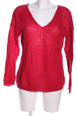 Promod V-Ausschnitt-Pullover rot Casual-Look