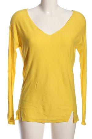 Promod V-Ausschnitt-Pullover blassgelb Casual-Look
