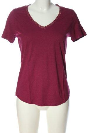 Promod V-hals shirt roze casual uitstraling