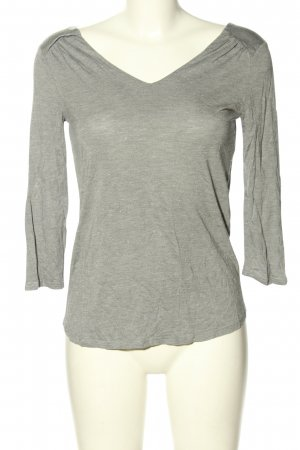 Promod V-Ausschnitt-Shirt hellgrau meliert Casual-Look