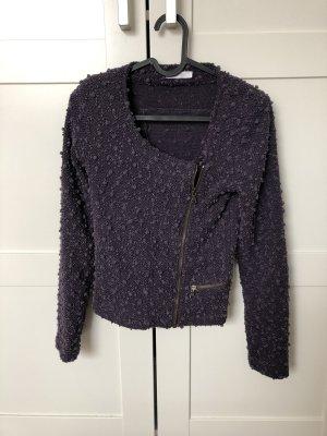 Promod Knitted Blazer grey lilac
