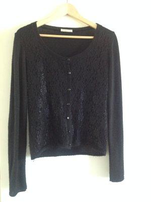 Promod Gilet tricoté noir laine