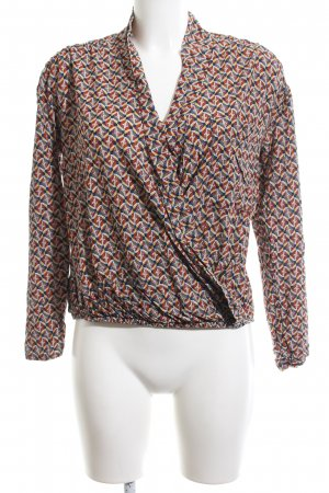 Promod Wickelshirt rot abstraktes Muster Business-Look