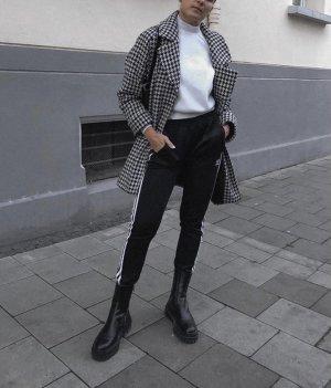 Promod Short Coat black-white mixture fibre