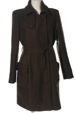 Promod Cappotto in lana cachi stile professionale