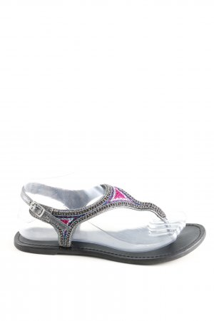 Promod Toe-Post sandals silver-colored casual look