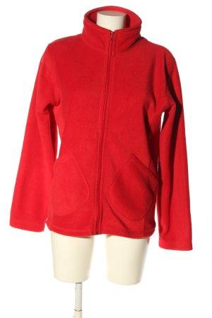 PROMODORO Fleece jack rood casual uitstraling