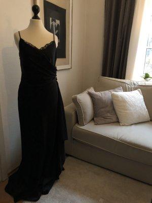 Pronovias Abendkleid Ballkleid schwarz Satin 36
