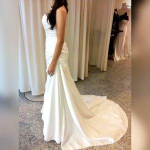 Pronovias Bandeau Dress white satin