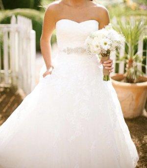 Pronovias Vestido de novia blanco-crema