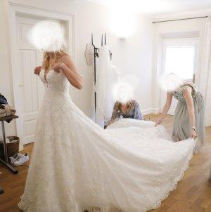 Pronovias Robe de mariée blanc-blanc cassé tissu mixte