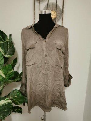 Pronto Moda Made in Italy Designer Bluse Langarmhemd Strass Vinta