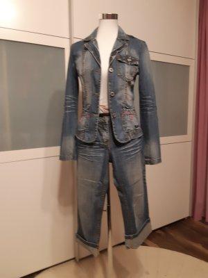 Protest Blazer in jeans multicolore Cotone
