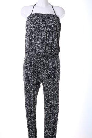 Protest Jumpsuit schwarz-weiß grafisches Muster Casual-Look