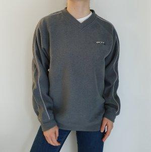 Protest M grau Cardigan Strickjacke Oversize Pullover Hoodie Pulli Sweater Top True Vintage
