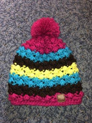 Protest Bonnet en crochet multicolore