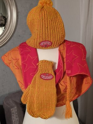 Protest Knitted Hat orange-red