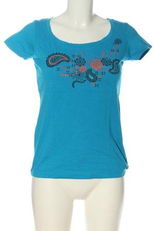 Protest T-shirt imprimé bleu imprimé avec thème style décontracté